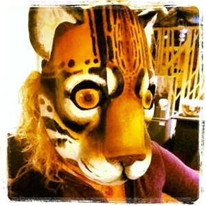 Picture of me wearing a cat mask.