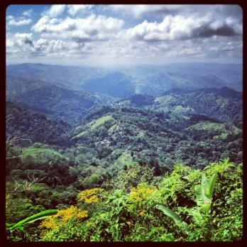 beautiful costa rican view near puriscal