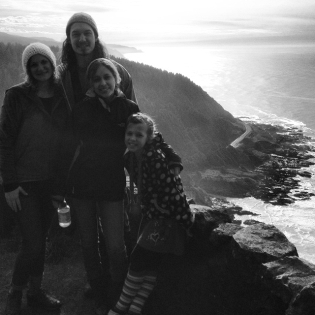 Me and my hiking buddies at Cape Perpetua.